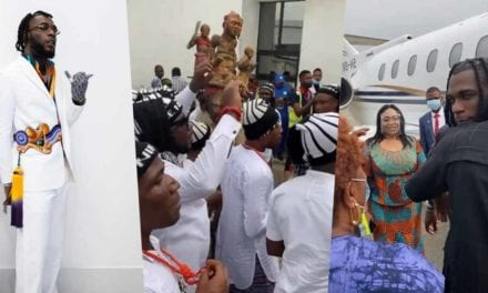 Burna Boy welcomed in grand style in Port Harcourt for homecoming concert (Video)
