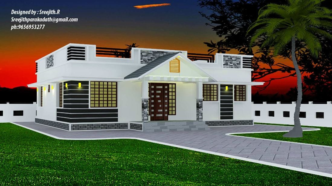 1300 Sq Ft 3BHK Traditional Mix Style Beautiful House and Free Plan – Home Pictures