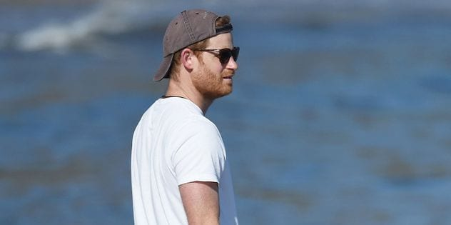 See Photo of Prince Harry's Off-Duty, Cali Beach Style