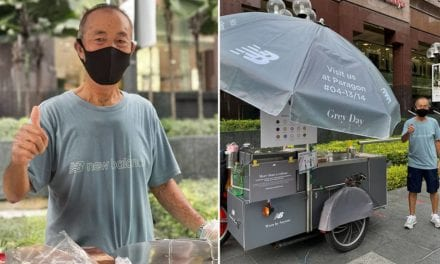 Is Orchard Rd Ice Cream Uncle An Influencer Now? He & His Cart Now Decked Out In All Grey In The Name Of A Fashion Campaign – 8Days.sg