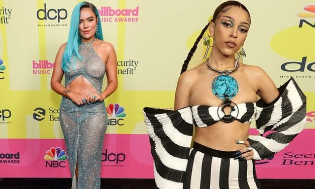 Billboard Awards Worst Dressed! Doja Cat loses her fashion stripes in Beetlejuice-inspired outfit | Daily Mail Online