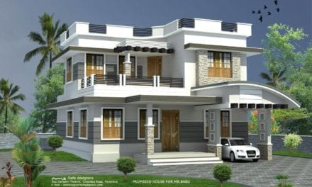 1400 Sq Ft 3BHK Contemporary Style Two-Storey Home and Free Plan – Home Pictures