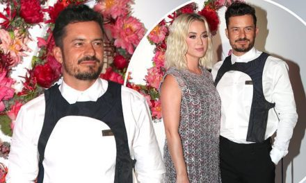 Orlando Bloom opts for a £855 Louis Vuitton harness at glitzy fashion dinner | Daily Mail Online