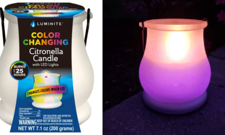 You Can Get A Color Changing Citronella Candle To Keep The Bugs Away In Style