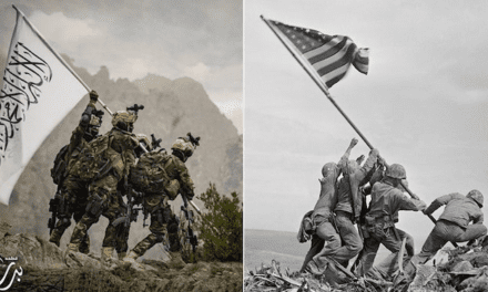 Taliban Fighters With US Weapons and American Gear Pose for Iwo Jima Flag Raising-Style Photoshoot – Sputnik International