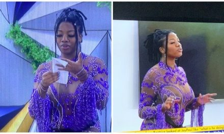 How #BBNaija Housemate, Angel's dad reacted to the see-through dress his daughter donned at the fashion show – Watch Video – Madailygist
