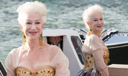 Dame Helen Mirren, 76, arrives in style at the Dolce &  Gabbana fashion show in Venice | Daily Mail Online