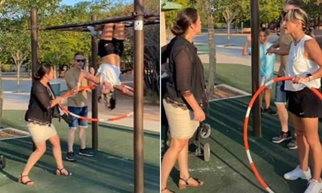Viral TikTok shows a furious 'Karen' screaming at a woman for flashing her sports bra at a park | Daily Mail Online