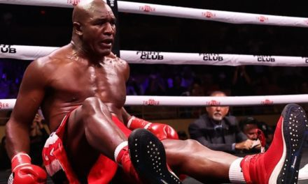 Evander Holyfield, aged 58, beaten by Vitor Belfort via first-round TKO | Boxing News | Sky Sports