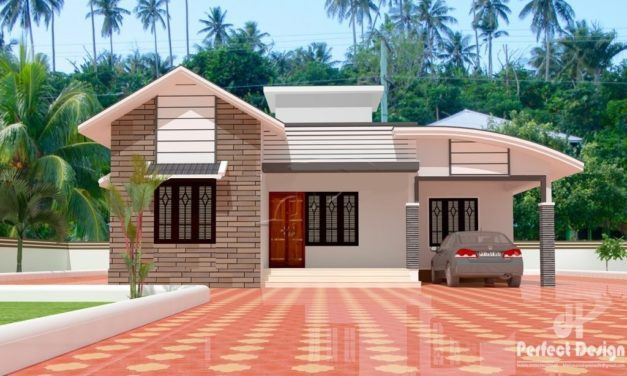 1097 Sq Ft 3BHK Contemporary Style Home and Free Plan, 16 Lacks – Home Pictures