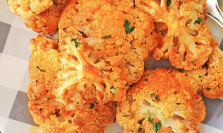 Roasted Buffalo Cauliflower with Healthy Ranch Dip – Marathons & Motivation