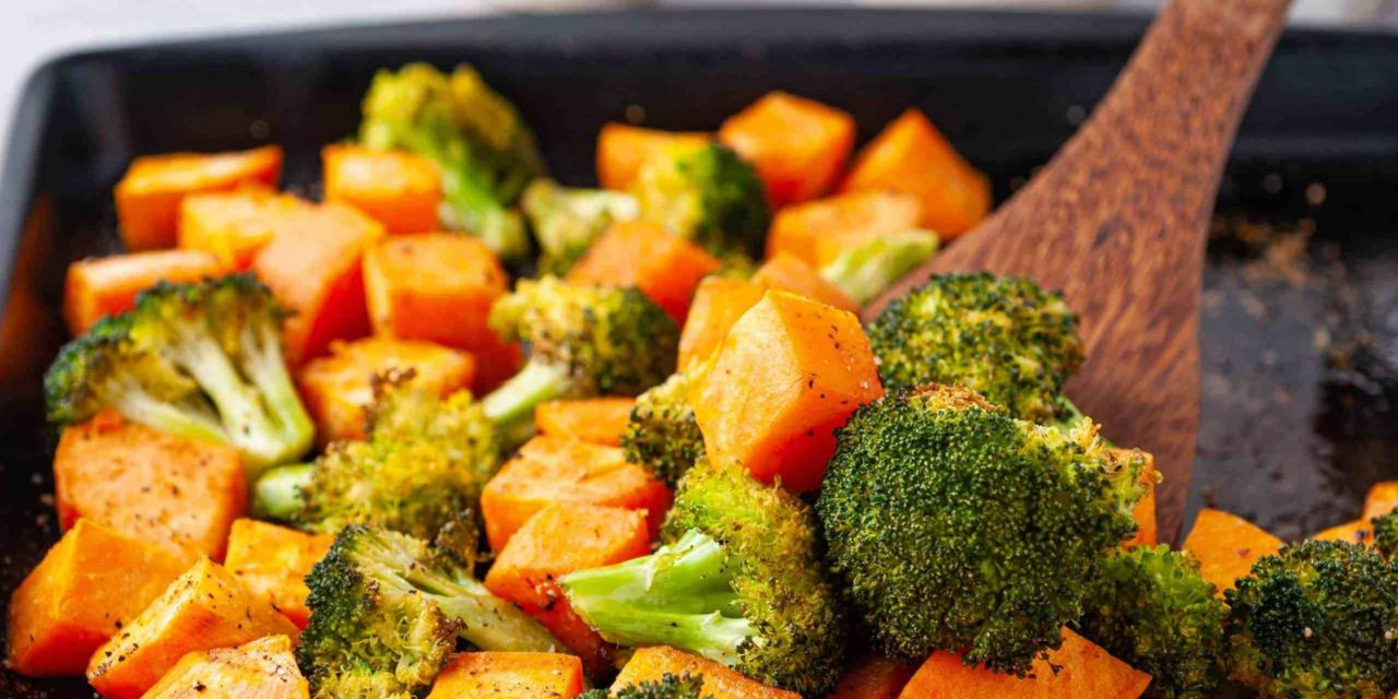 Roasted Broccoli and Sweet Potatoes in Coconut Oil – Marathons & Motivation