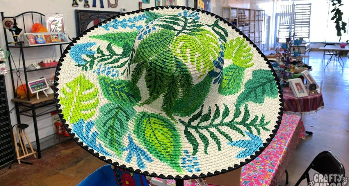 Why you require this painted hat tutorial! – The Crafty Chica! Crafts, Latinx art, innovative motivation