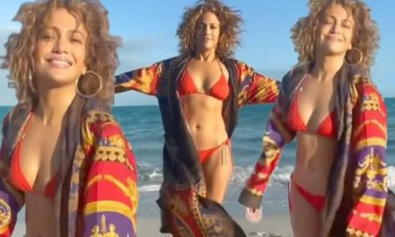 Jennifer Lopez, 51, poses in a red bikini on the beach and looks for 'Monday motivation' | Daily Mail Online