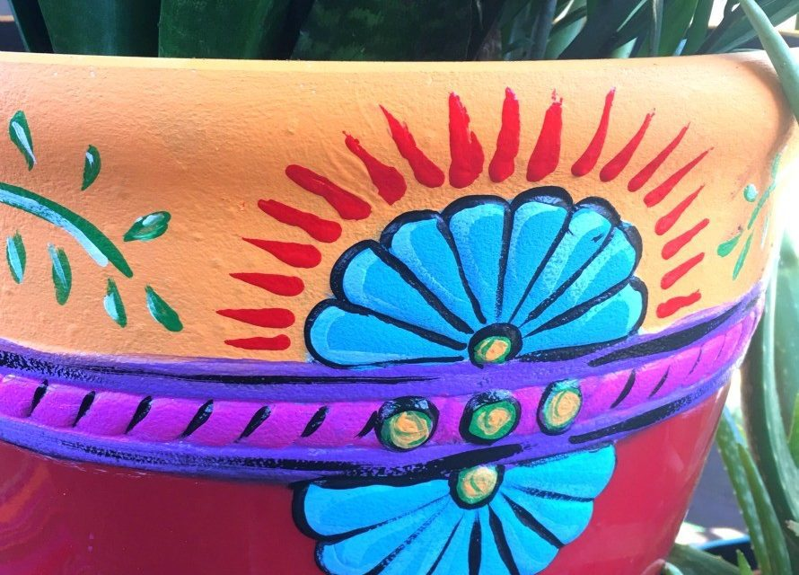 Mexi-Style Painted Planters – The Crafty Chica! Crafts, Latinx art, creative motivation