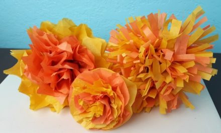 Tissue Paper Marigolds DIY – The Crafty Chica! Crafts, Latinx art, creative motivation